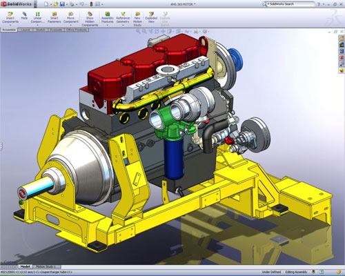 engine in solidworks