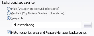 SolidWorks background options