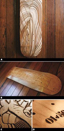 skateboard 3D art