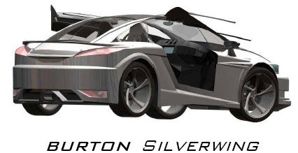 silverwing car designed in SolidWorks