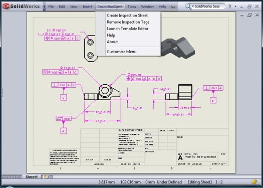 inspection expert for solidworks drawings