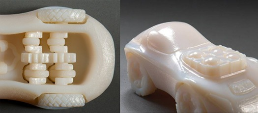 objet 3d printer prints 3d cad models