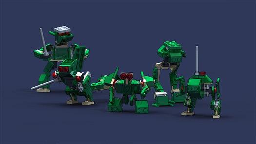 solidworks robot lego rendering vliet