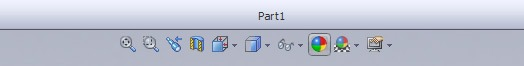 solidworks head-ups toolbar for visual appearance