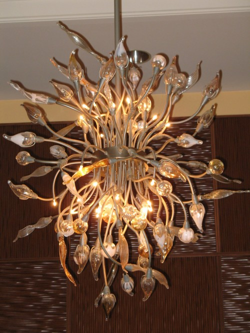 Dolphin Hotel Lobby Chandelier... did that thing just move? Watch the children hun.
