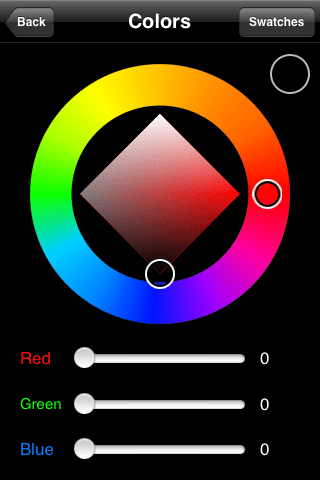 Customizing the color you want to use