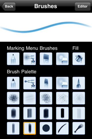 Picking the Brush you want to use from the Brush Palette