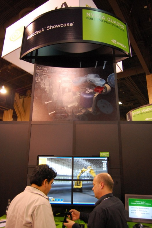 The nVidia Booth in the exhibition hall