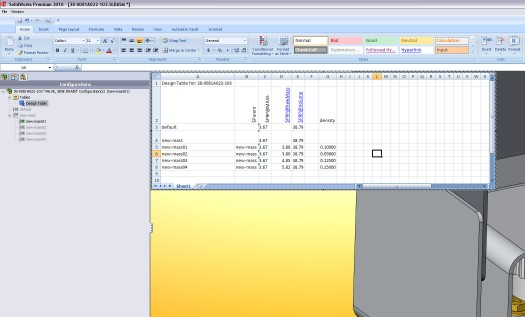 Add a design table to manipulate weight with custom densities. overkill? oh yes.