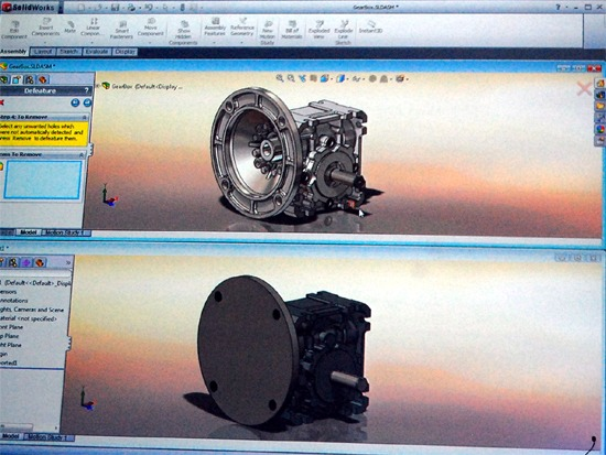 "SolidWorks 2011 will have a new feature ""Defeature"" that allows you to remove all internal detail from a part."