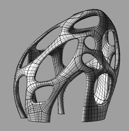 The 3D CAD model of the Radiolaria structure. Saved as an .STL file for the 3D printer