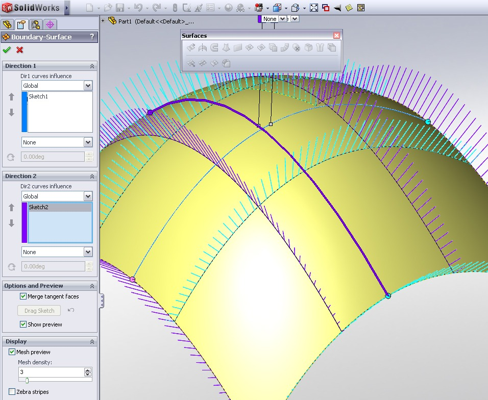 How to Easily Create Curved Features Using Boundary Surfaces