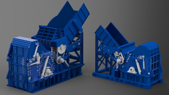 The TS 69x90 and TSH88 Shredders from Metso. Rendered in Bunkspeed SHOT. (Click to Enlarge)