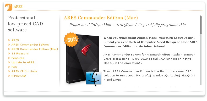 ARES Commander  First 2D CAD on the Mac Released  DraftSight Next
