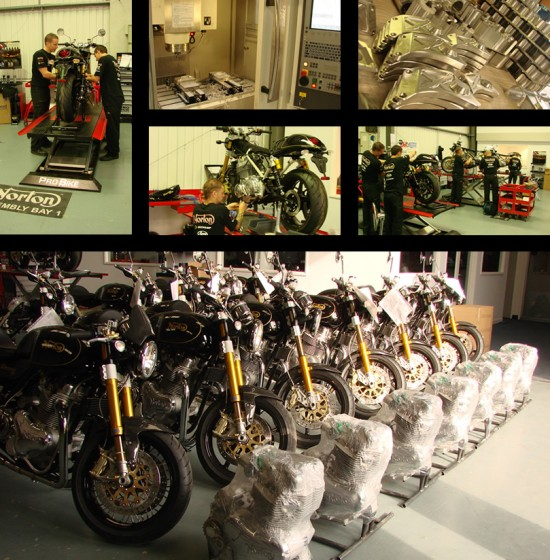 The Norton Factory in Donington Park. Machine shop, assembly and moto's ready for delivery. (Image: Norton Motorcycles)