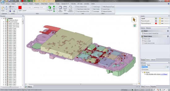 SpaceClaim 2010 includes new power select features to remove small components from assemblies, which helps when preparing volumes for CFD.