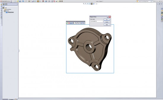 You can manipulate (non-projected) drawing views in SolidWorks 2011 and save them to your View list. (Click to Enlarge)