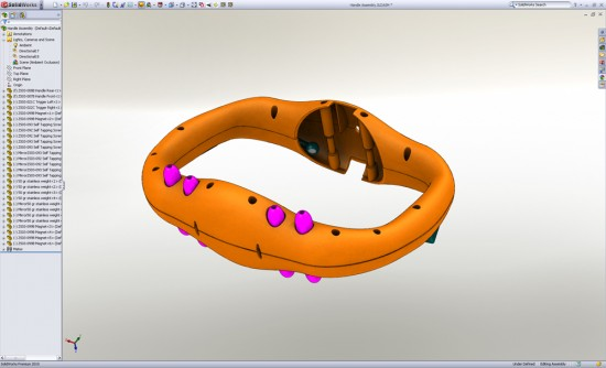 SolidWorks 2010 Display with Shadows and Ambient Occlusion On
