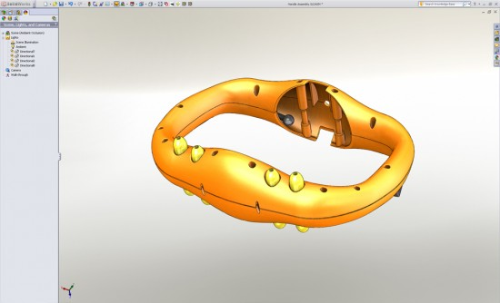 SolidWorks 2011 Display with Shadows and Ambient Occlusion On (Click to Enlarge)