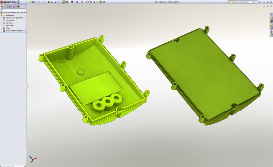 SolidWorks 2011 Defeature Part removes detail you select from the model. Here's the Defeatured part before and after. (Click to Enlarge)