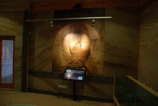 The exhibit at the visitor center using 3D Technologies R&D Kiosks.