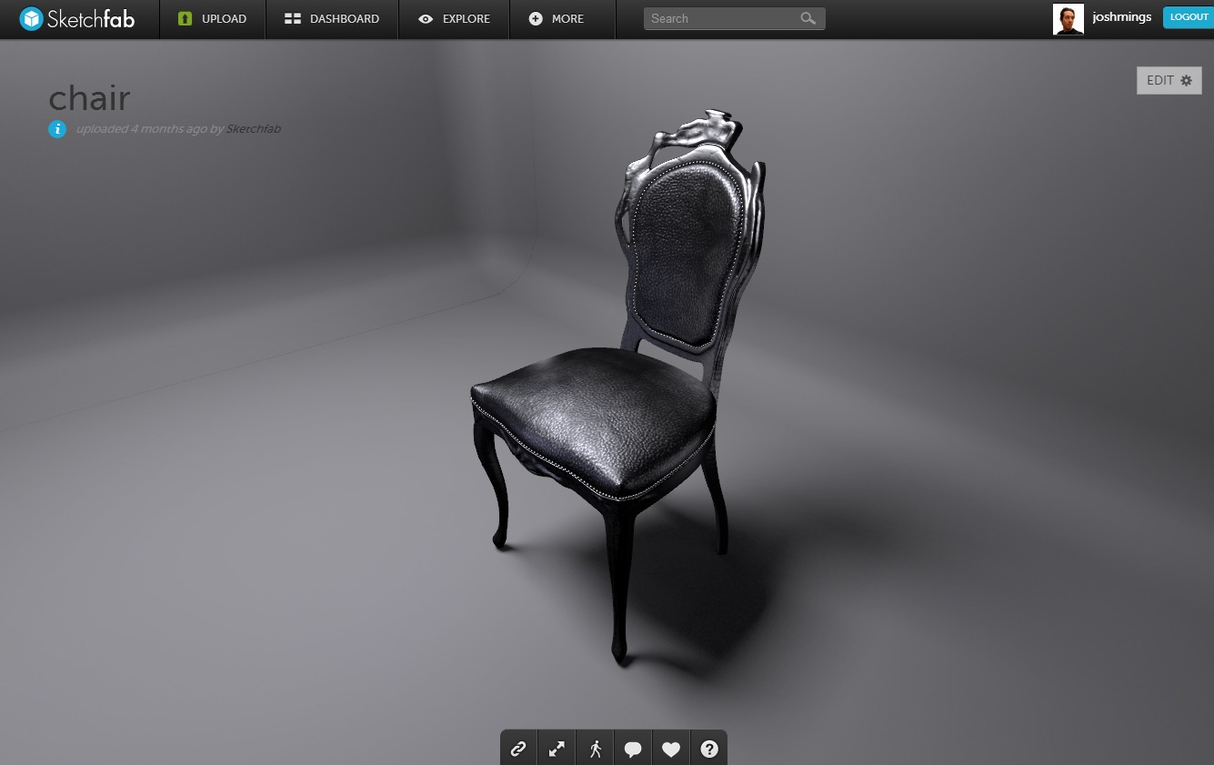 Sketchfab Brings Smooth Simple Model Viewing To The Web