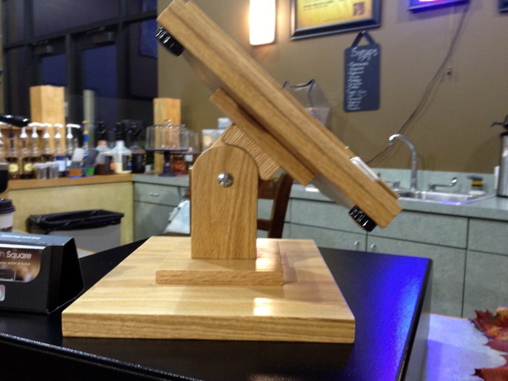 The diy wood ipad stand that screams style prevents tablet