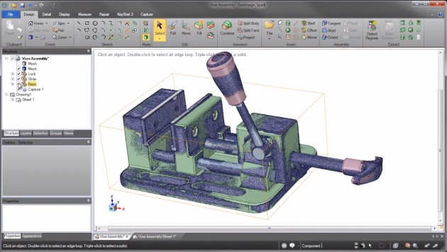 Geomagic and SpaceClaim Shake Scan-to-CAD Scene with Launch
