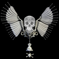 Joshua Harker's New Anatomica is Probably the Only 3D Printed Winged Skull You Need