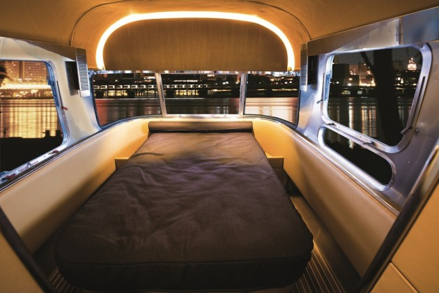 The new redesigned airstream interior a yacht on wheels for Interior motorhome designs