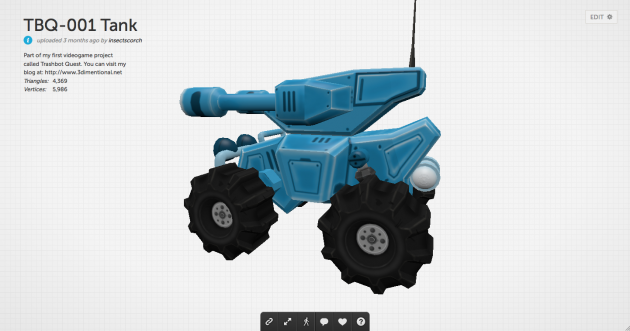 lil' blue buggy. with guns.