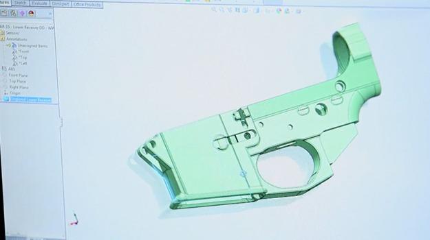 3DprintedgunSolidWorks