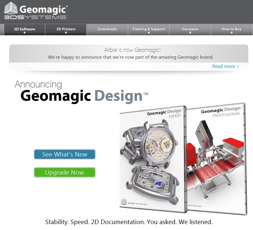 Alibre And Geomagic Combined 3d Systems Releases Geomagic Design Solidsmack