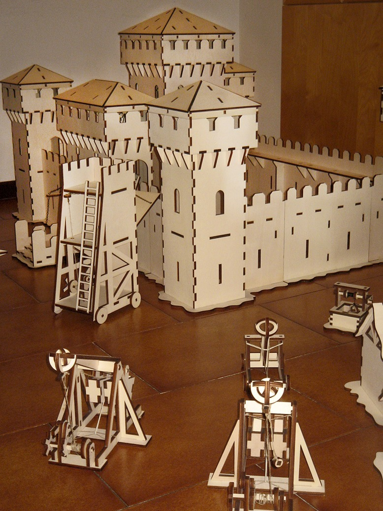 Laser Cut Castle Scene With Working Trebuchet and Catapult ...