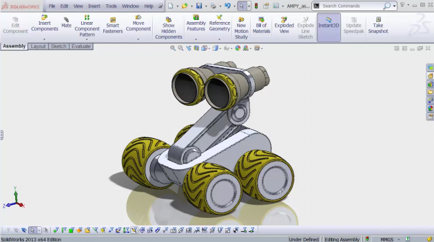 Learn to model and 3d print a robot in under 2 hours with for Design table not working solidworks