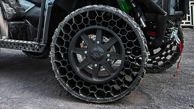 Airless Car Tires >> Airless and Bulletproof Tires Being Introduced in New Polaris ATV Design - SolidSmack