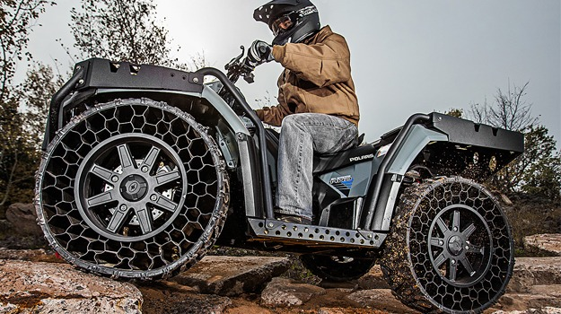 Bullet Proof Tires >> Airless And Bulletproof Tires Being Introduced In New Polaris Atv