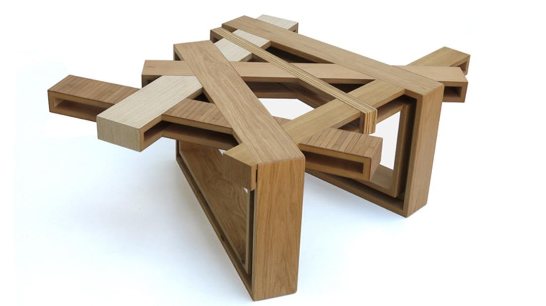 Industrial Designer Eli Chissicku0027s Brilliant Upcycled Wood Furniture    SolidSmack