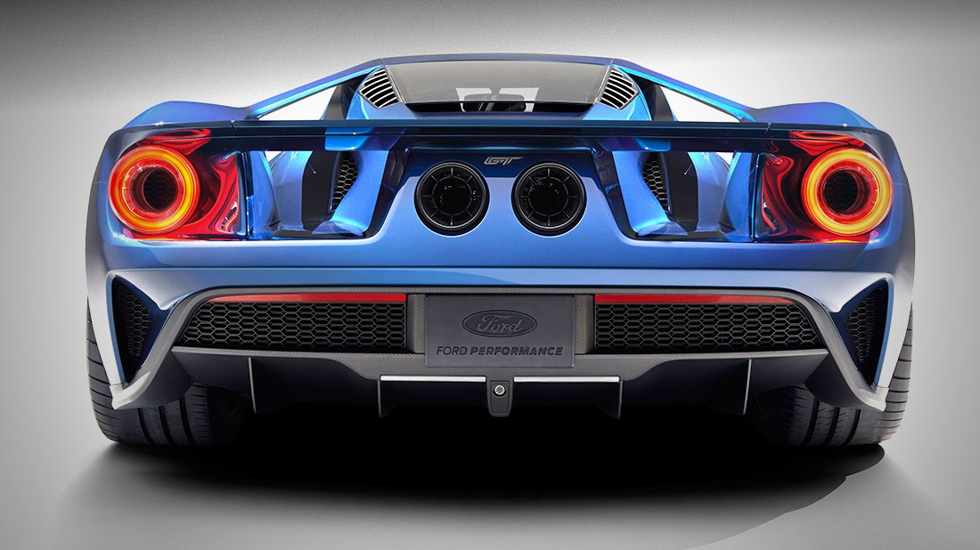 Ford Unveils Carbon Fiber  Ford Gt Supercarwith Ecoboost