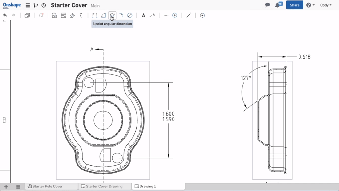 Onshape introduces drawings on their web based 3d modeling Web based 3d modeling