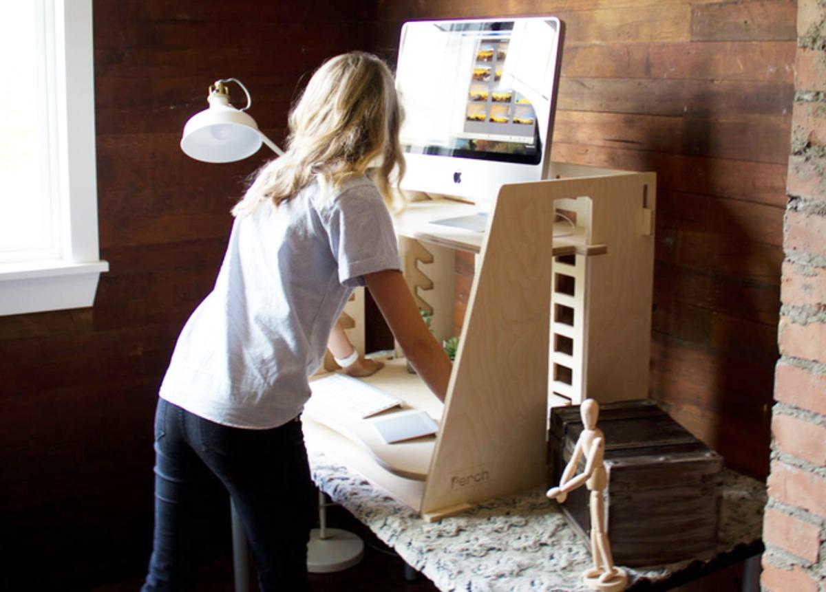 Innovative Design Of The Perch Desk Makes Standing Desks