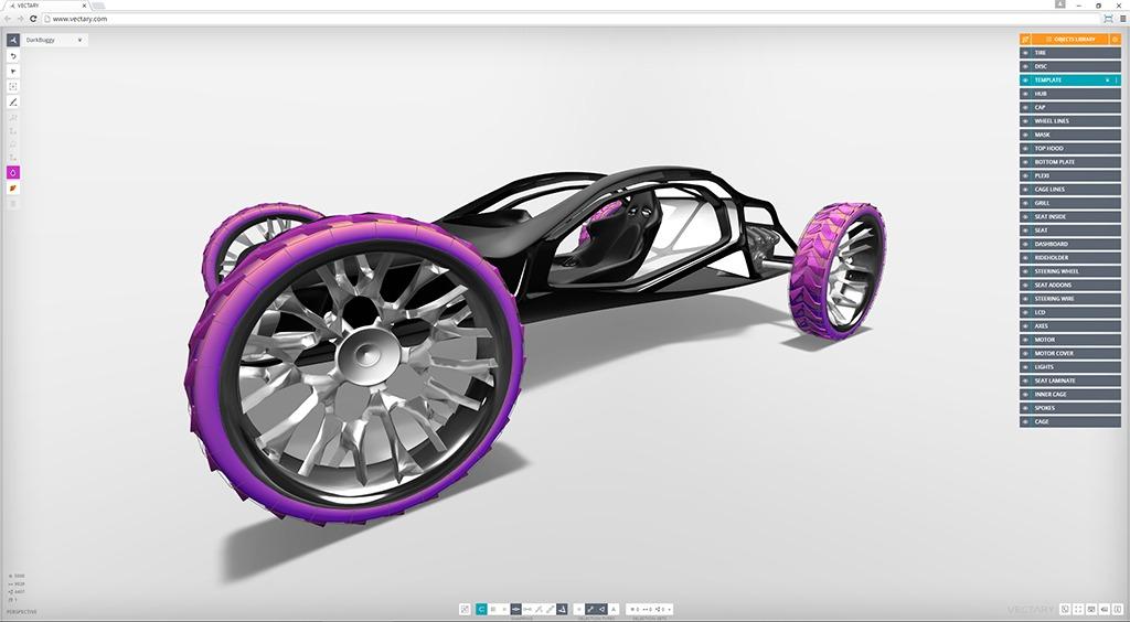 vectary-3d-modeling-ui-car