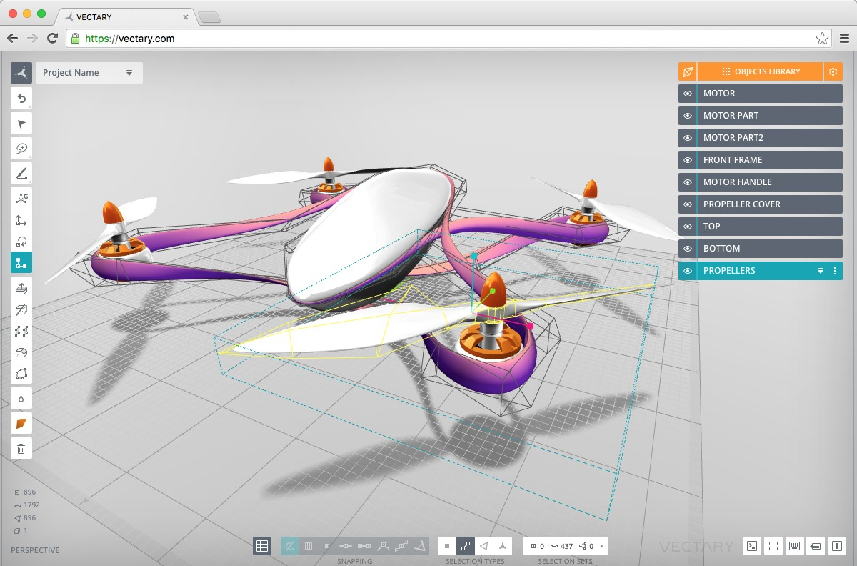 Vectary is an easy to use cloud based 3d modeling tool Simple cad online
