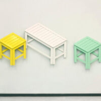 These Stools Transform From 2D Wall Art Into 3D Furniture