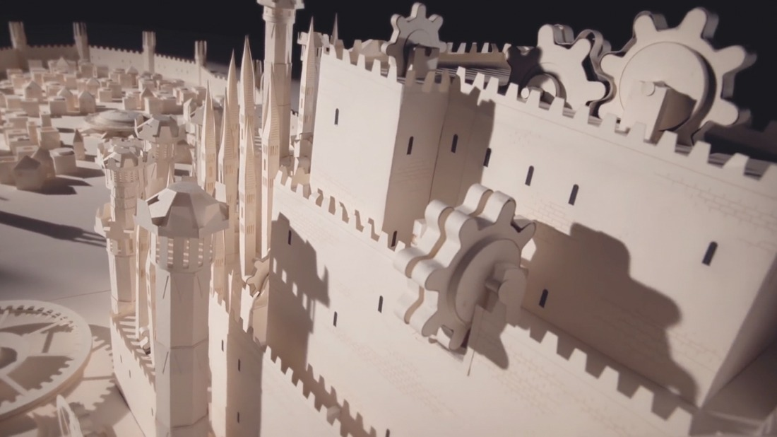 Moleskine Recreates the Game of Thrones Opening Sequence