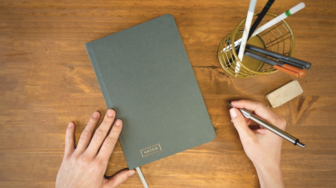 The hatch notebook is an ingenious new brainstorming tool for Down the hatch meaning