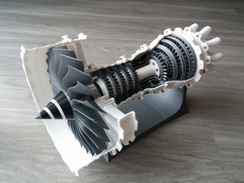 Model Of The Week 3d Printable High Bypass Jet Engine