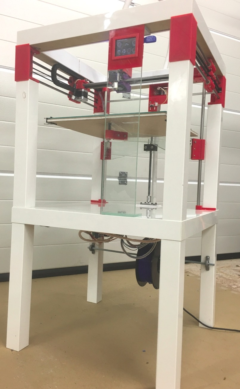 this large format 3d printer made from two 9 99 side tables is