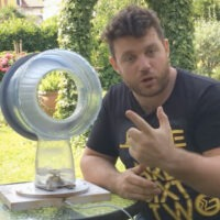 This Guy Built a Dyson Bladeless Fan Using a Water Jug and Microwave Parts
