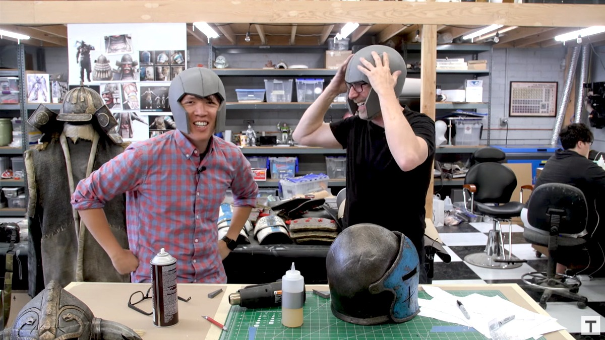 how to make the inquistor helmet ffrom foam